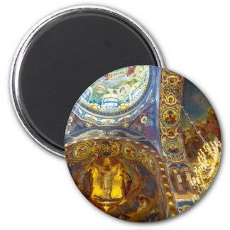 Church of Our Savior on The Spilled Blood Russia 6 Cm Round Magnet