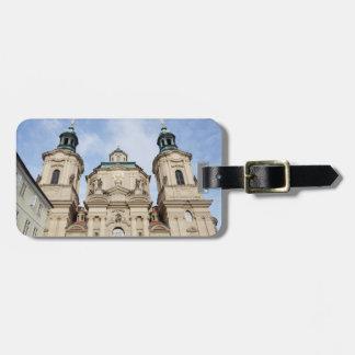 Church of Saint Nicholas Prague souvenir photo Luggage Tag