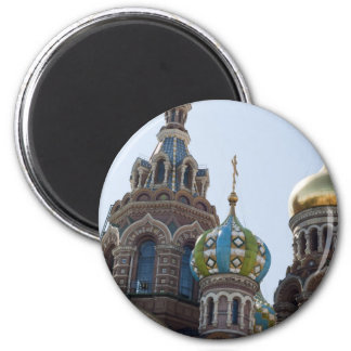 Church of Savior on Spilled Blood Russia 6 Cm Round Magnet