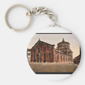 Church of St. Mary the Gracious, Milan, Italy vint Basic Round Button Key Ring