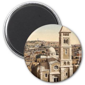 Church of St. Saviour, Jerusalem, Holy Land rare P 6 Cm Round Magnet