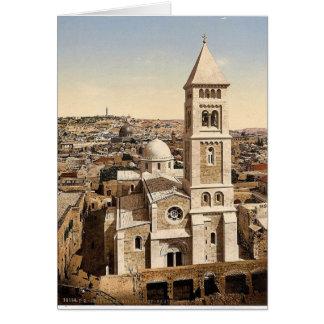 Church of St. Saviour, Jerusalem, Holy Land rare P Greeting Card