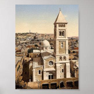 Church of St. Saviour, Jerusalem, Holy Land rare P Poster