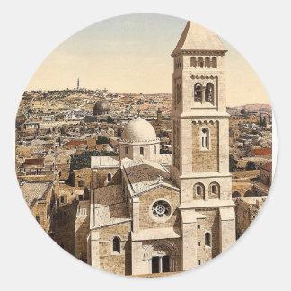 Church of St. Saviour, Jerusalem, Holy Land rare P Round Sticker