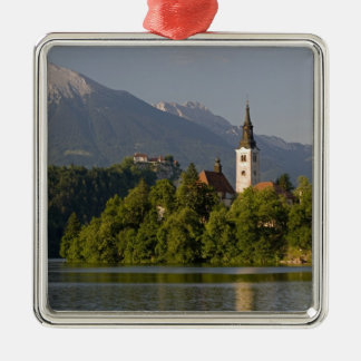 Church of the Assumption on island in Lake Christmas Ornament