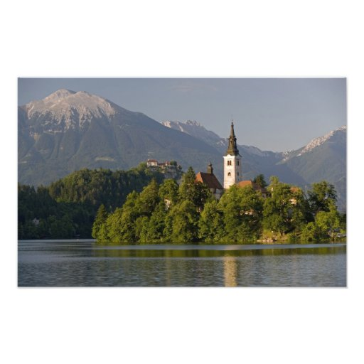 Church of the Assumption on island in Lake Photo Print