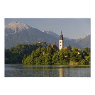 Church of the Assumption on island in Lake Photograph