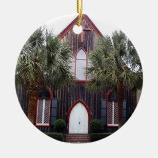 Church of the Cross - Bluffton, South Carolina Round Ceramic Decoration
