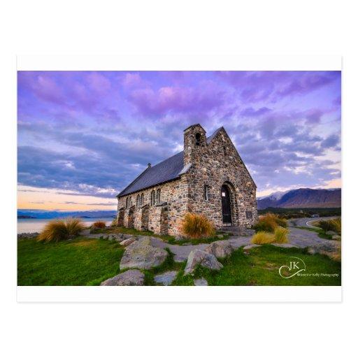 Church of the Good Shepherd Lake Tekapo NZ: Postca Postcards