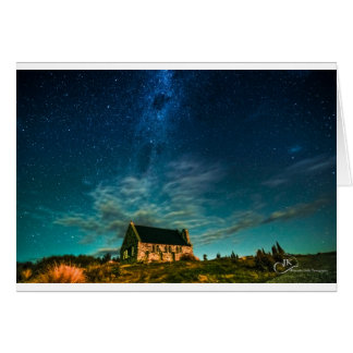 Church of the Good Shepherd Tekapo at night Greeting Card