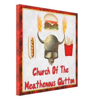 Church Of The Heathenous Glutton Gallery Wrapped Canvas