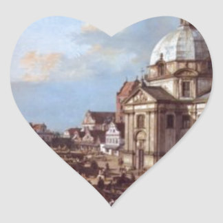 Church of the Holy Sacrament in the New Town Heart Sticker