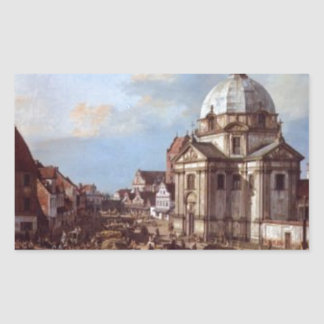 Church of the Holy Sacrament in the New Town Rectangular Sticker