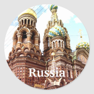 Church of the Savior on Blood Classic Round Sticker