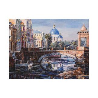 Church Oil Painting Canvas Print