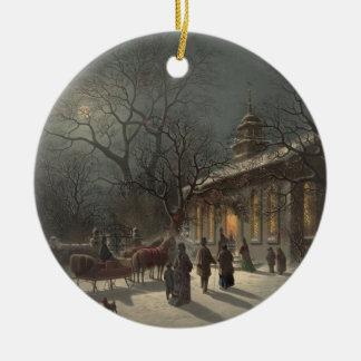 Church on Christmas Eve Christmas Ornament