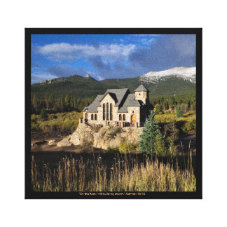 Church on the Rocks Colorado wrapped Canvas