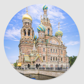 Church on the Spilled Blood, Russia Round Sticker