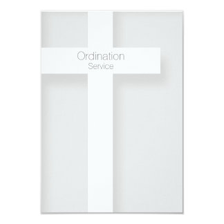 Church Ordination Modern Invitation Cross 1