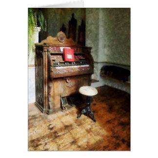 Church Organ With Swivel Stool Greeting Card