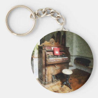 Church Organ With Swivel Stool Basic Round Button Key Ring