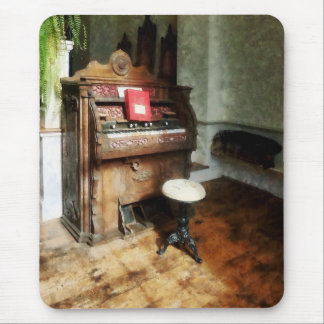 Church Organ With Swivel Stool Mouse Pad