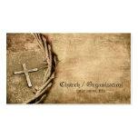 Church / Organisation Aged Cross Business Card