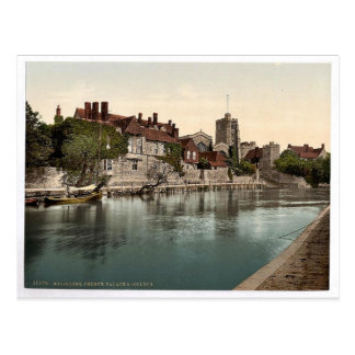 Church, palace and college, Maidstone, England cla Postcard