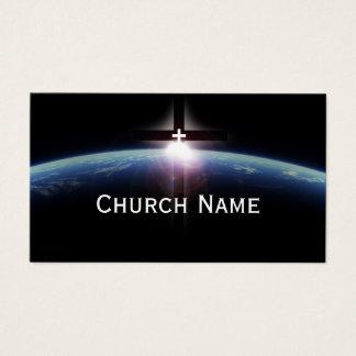 Church Pastor Space Holy Cross Light Business Card