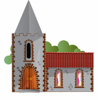 Church Photo Sculpture Magnet