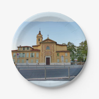 Church Roch Saint 7 Inch Paper Plate