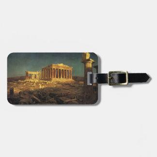 "Church's ""Parthenon"" custom luggage tag"