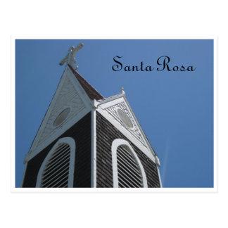 Church - Santa Rosa, Ca. Postcard