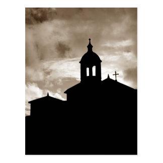 Church silhouette postcards