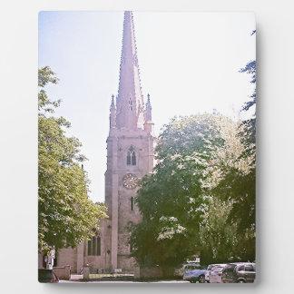 Church spire plaque