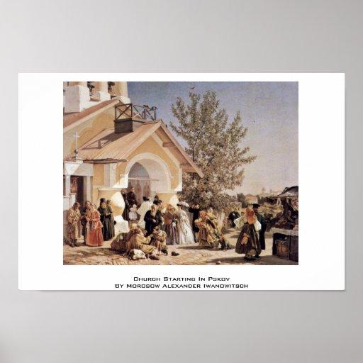 Church Starting In Pskov Poster