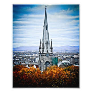 Church Steeple in Old Quebec City Photo Print
