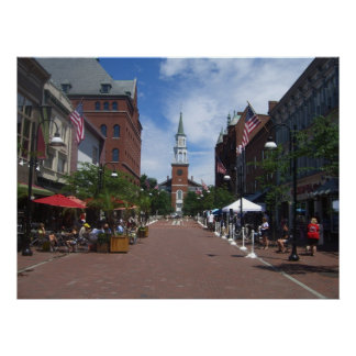 church street - burlington, vermont poster