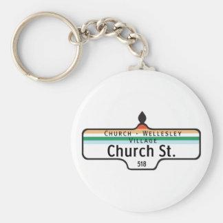 Church Street Toronto Street Sign Key Chain