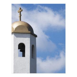 Church Tower and Cross 21.5 Cm X 28 Cm Flyer