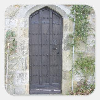 Church Village Door Square Sticker