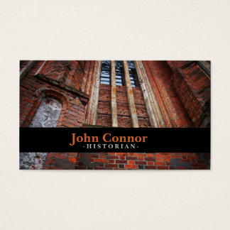 Church Wall Historian Business Card