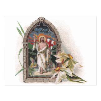 Church Window Resurrection of Christ Postcard