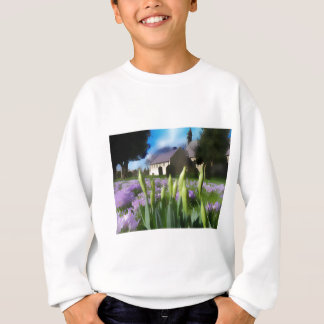 Church with artistic blur sweatshirt