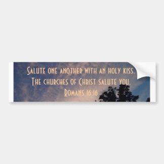 Churches of Christ salute you Bumper Sticker