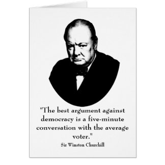 Churchill and Funny Quote Greeting Cards
