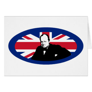 Churchill and Union Jack Greeting Card