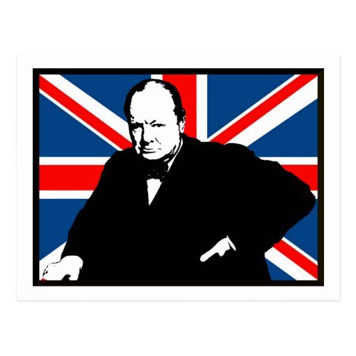 Churchill and Union Jack Post Cards