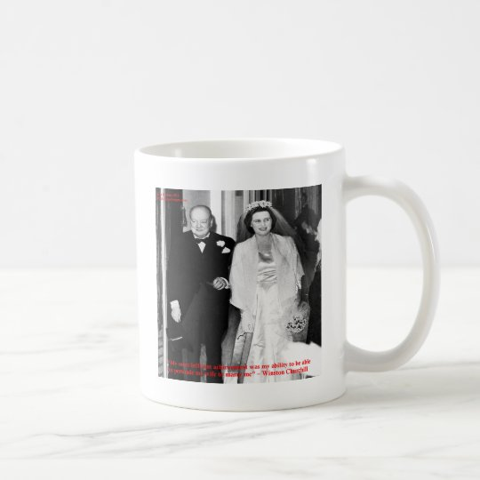 Churchill & Famous Marriage Quote Coffee Mug
