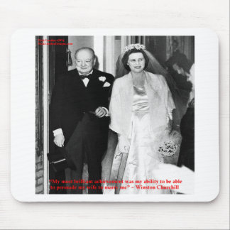 Churchill & Famous Marriage Quote Mousepad